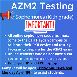 Testing Announcement Flyer