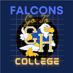 CHHS Logo and Falcons Go To College